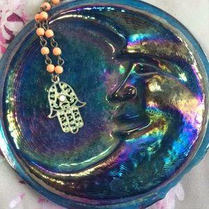 Jewelry - 🧡 Beaded Hamsa Necklace 🧡